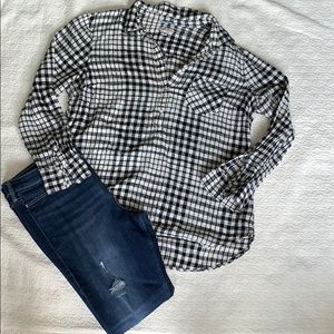 Flannel high low shirt